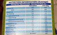 Weet-bix Organic - Nutrition facts - fr