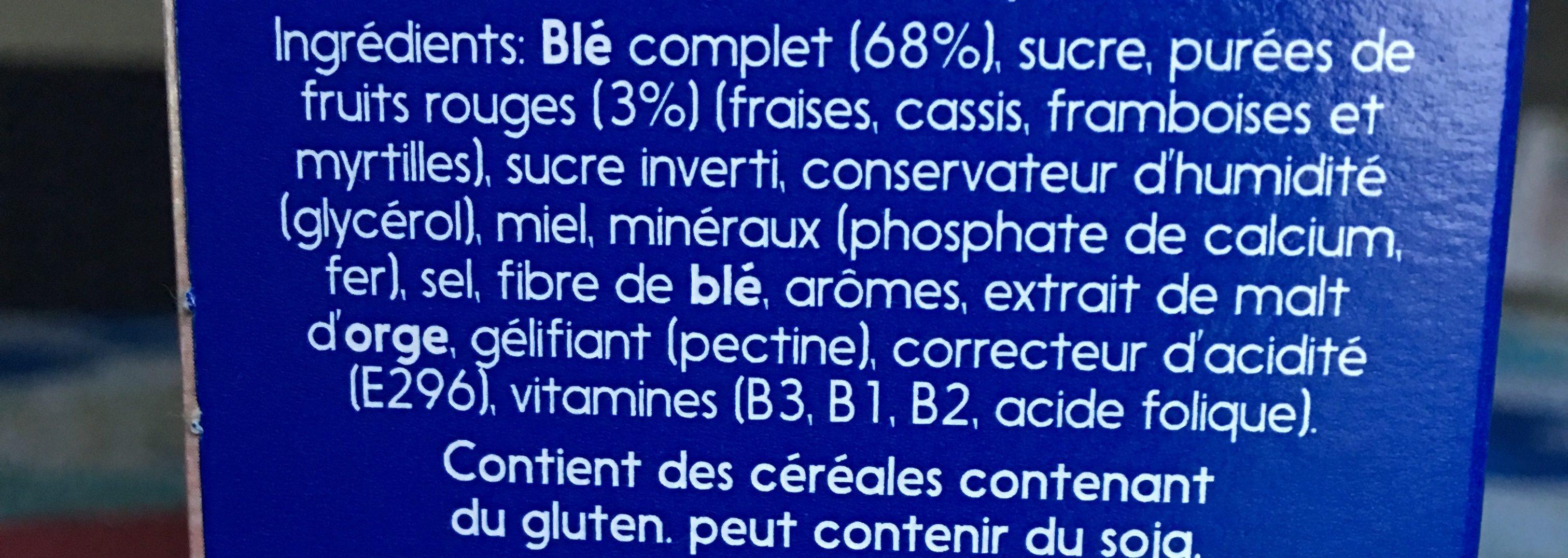 Weetbix Bites, Wild Berry - Ingredients - en