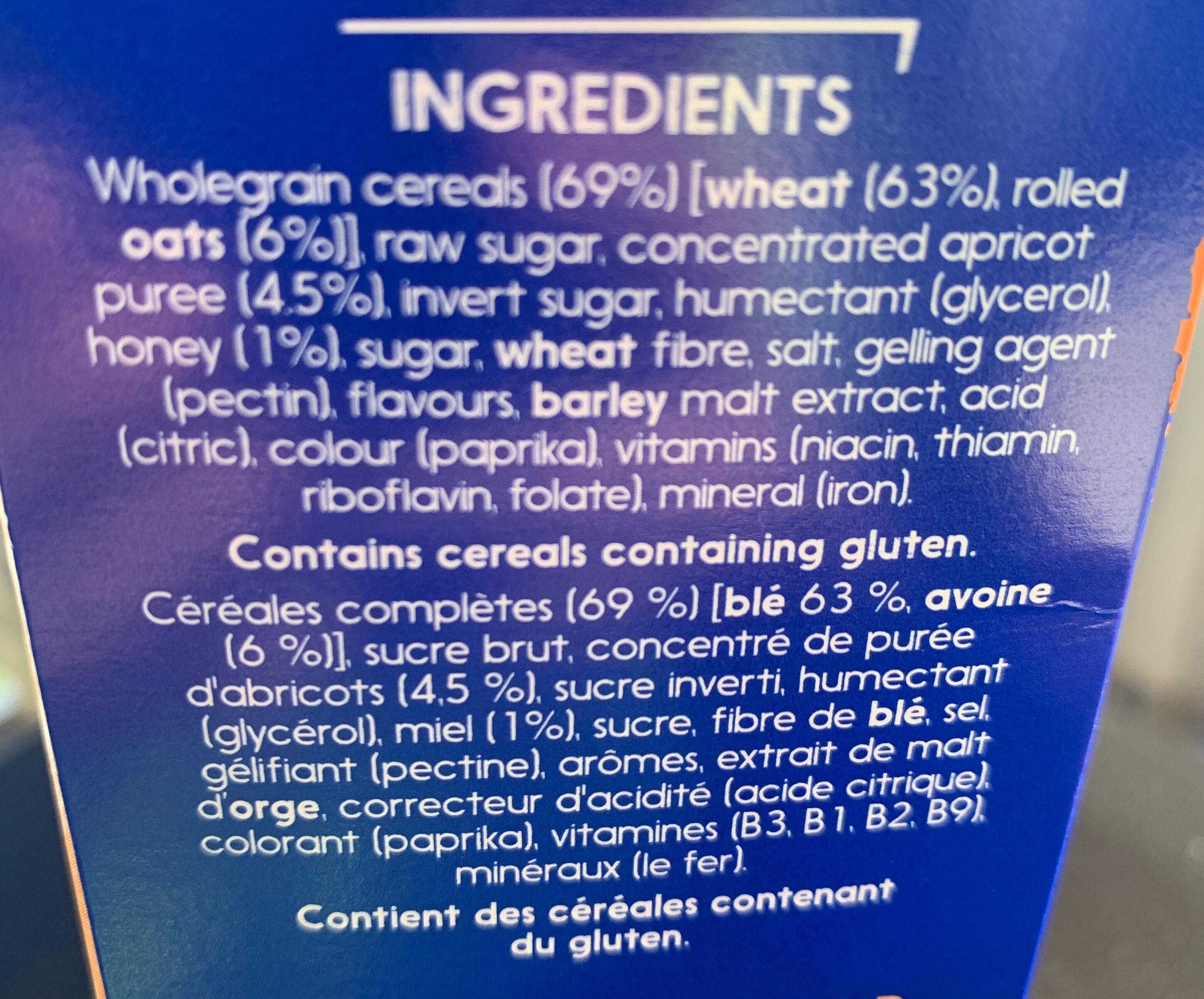 Sanitarium Weetbix Wheat Biscuits Apricot Bites - Ingredients