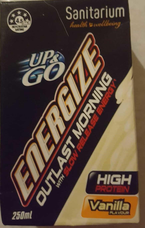 Up & Go Energize Vanilla - Product