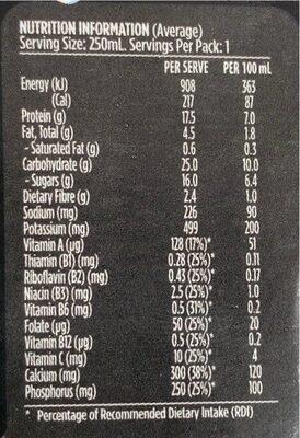 Up & Go Protein Energize Vanilla Flavour - Nutrition facts - en