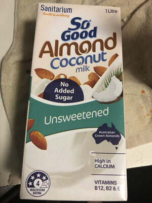 Sanitarium So Good Almond & Coconut Milk Unsweetened Tetra Pk - Product - en