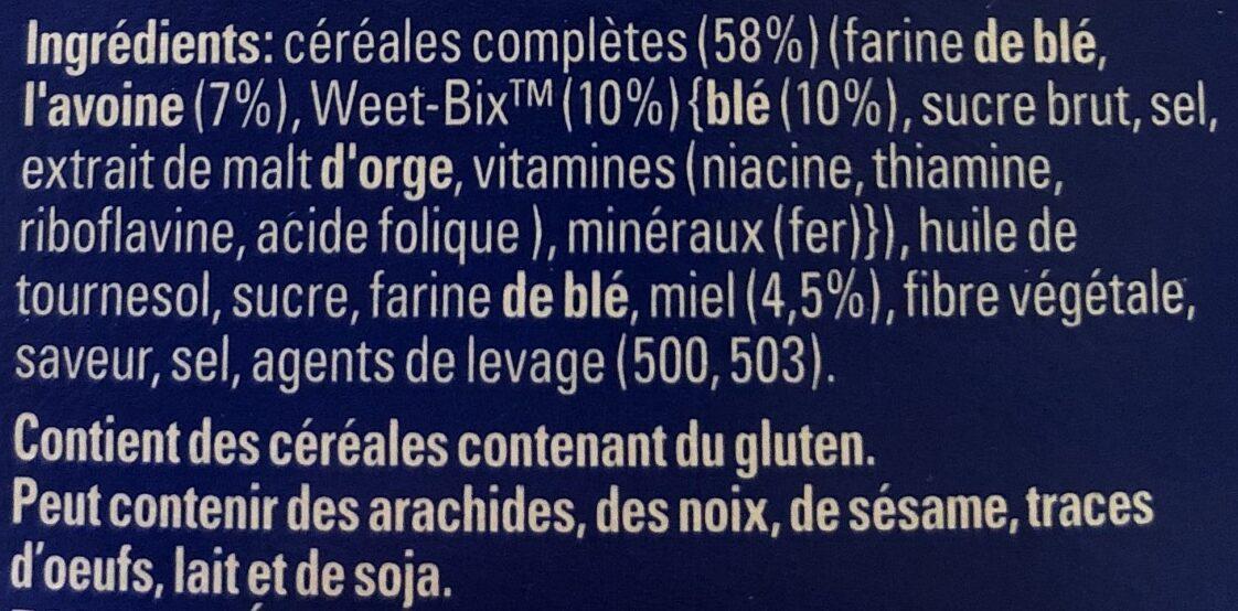 Sanit Weet-bix Go Hny &oat250gm - Ingredients