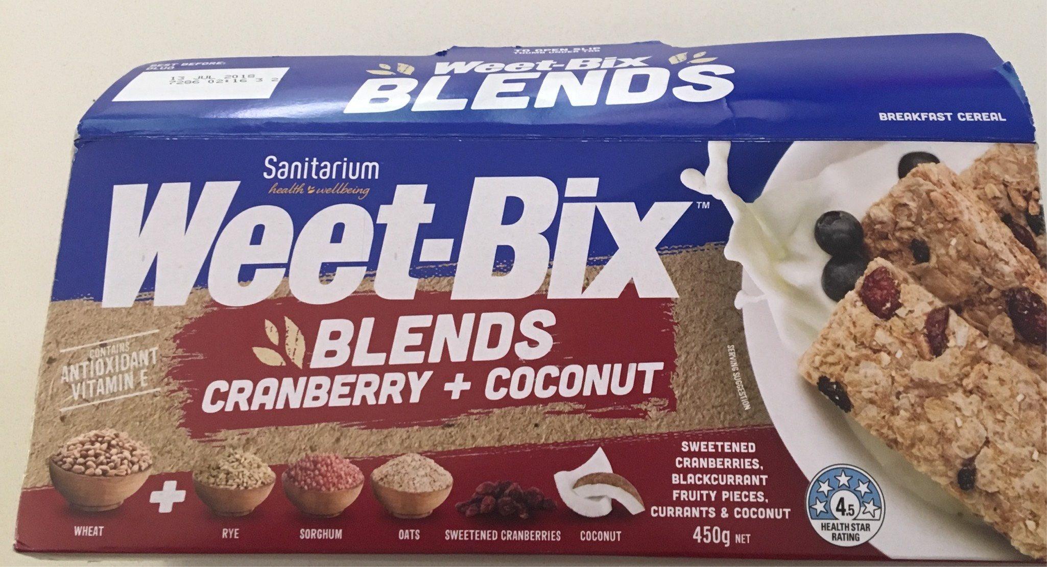 Weet-bix Blends Cranberry + Coconut - Product