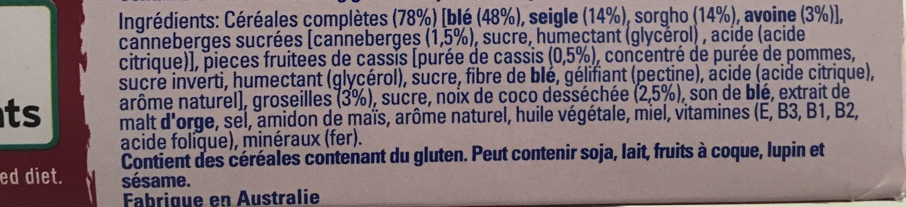 Weet-bix Blends Cranberry + Coconut - Ingredients