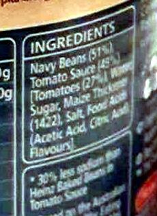 Heinz Beanz Salt Reduced - Ingredients - en