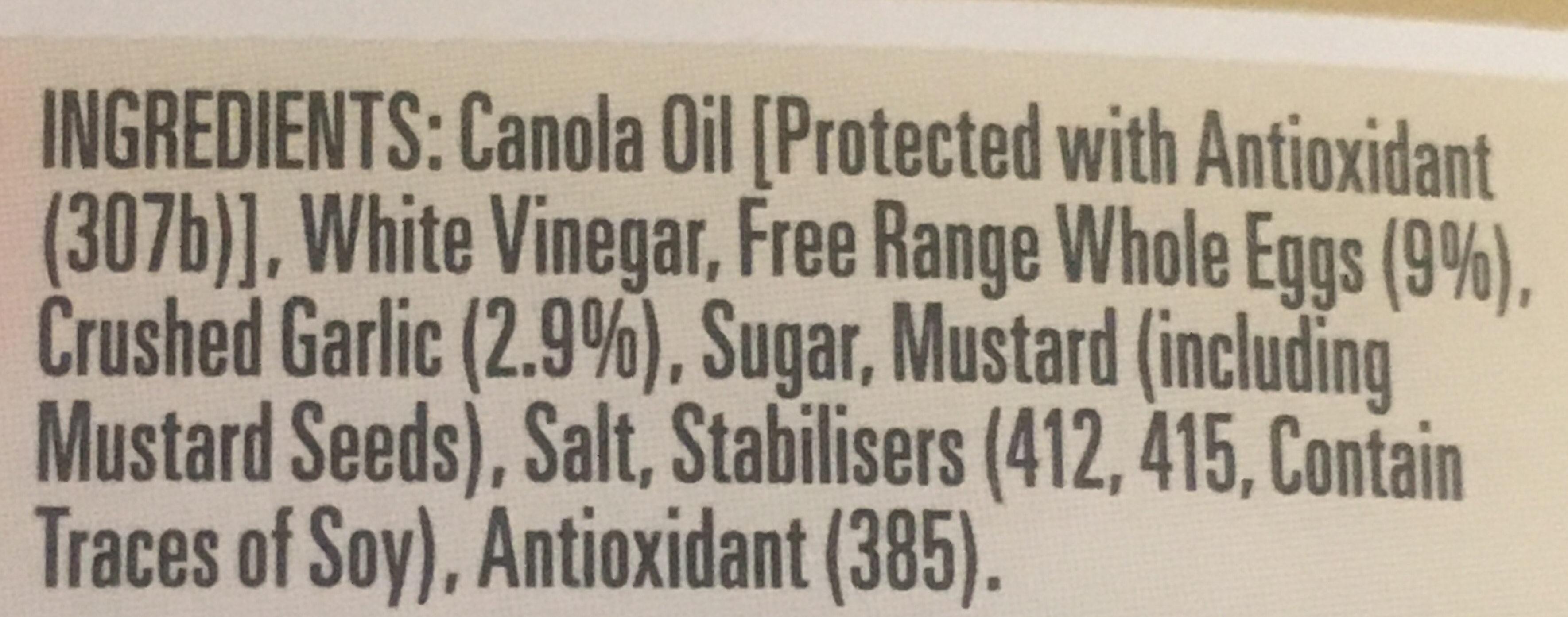 Garlic Lovers Aioli - Ingredients - en
