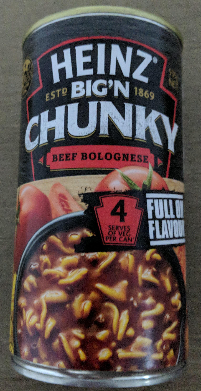 Heinz Big'N Chunky Beef Bolognese - Product - en