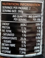 Big N Chunky Chilli Beef - Nutrition facts