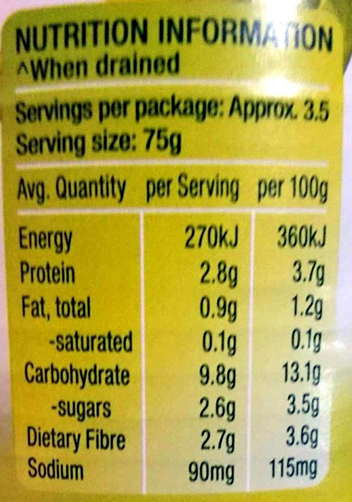Four Bean Mix - Voedingswaarden - en