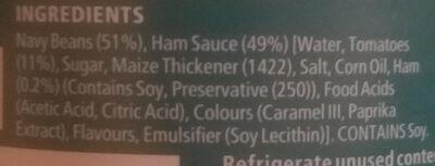 Beans ham sauce - Ingredients - en