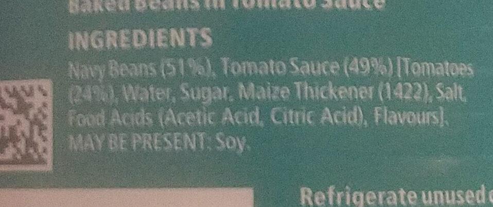 Heinz Beanz Salt Reduced - Ingredienti - en