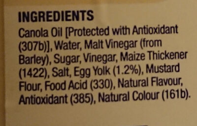 Classic MAYO - Ingredients
