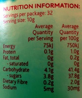 Apricot Lite Fruit Spread - Nutrition facts - en