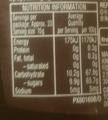 Fruits of the Forest Jam - Nutrition facts - en