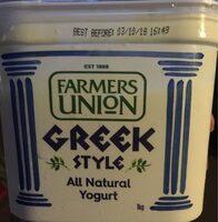 Farmers Union Greek Style Natural Yogurt - Product - en