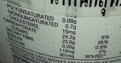 Yoplait real fruit strawberry - Nutrition facts