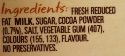 PURA Classic Chocolate - Ingredients