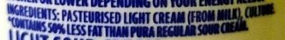 Lite Sour Cream - All Natural - Ingredients - en
