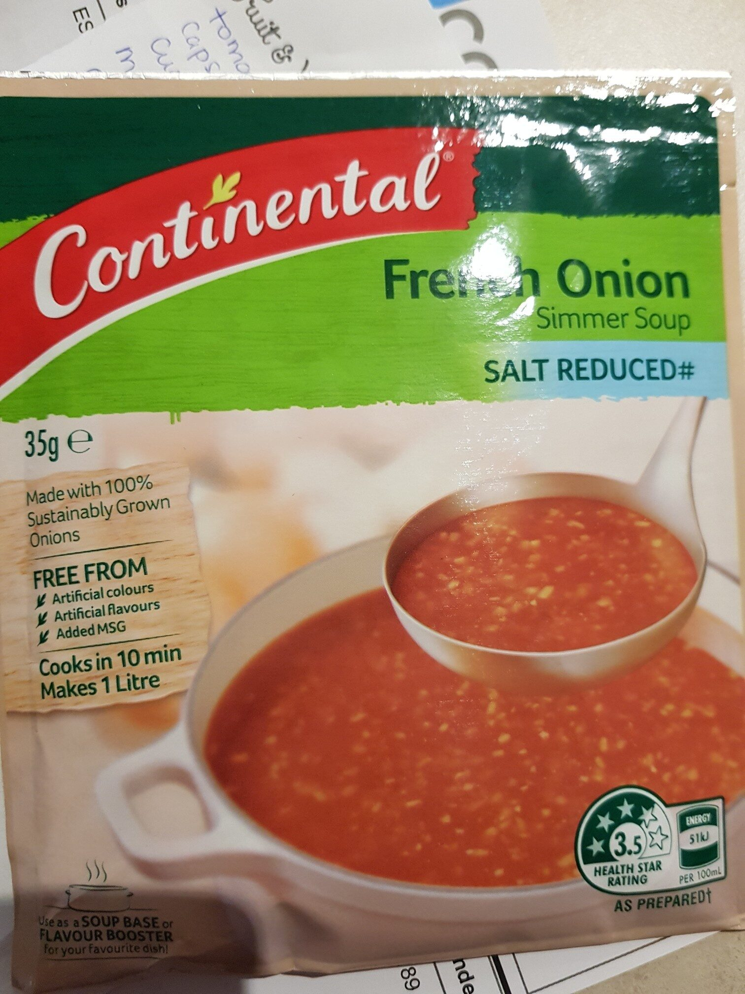 continental french onion soyp mix - Produit - en