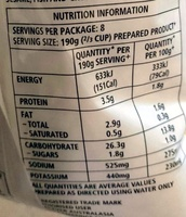 Deb Instant Mashed Potato - Nutrition facts