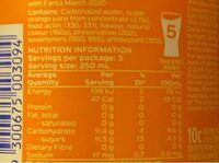 Orange - Nutrition facts - en