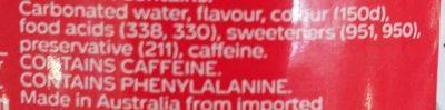 Coca cola Diet - Ingredients - en