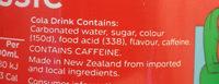 Coca Cola 600ml Bottle - Ingredients