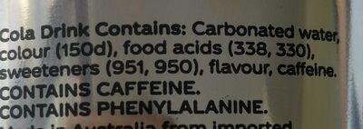 Diet Coca-Cola - Ingredients - en
