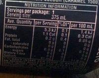 Coke Zero - Nutrition facts