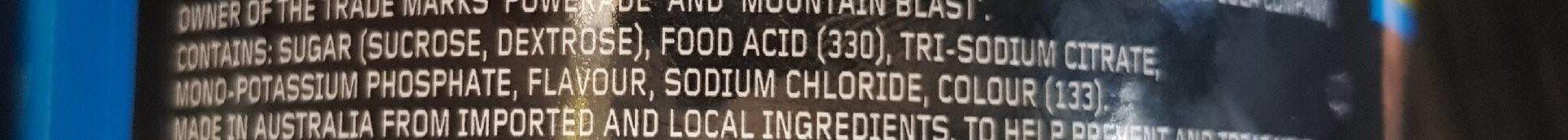 Isotonic Mountain Blast Powder - Ingrédients - fr