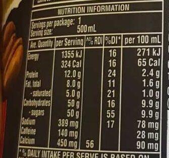 Iced Coffee - Voedingswaarden - en