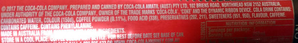 Coca-Cola Plus Coffee - Ingredients - en