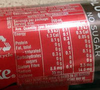 Coca-Cola Plus Coffee - Nutrition facts - en