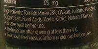 Fountain Tomato Sauce - Ingredients