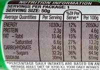 M&Ms Milk Chocolate - Nutrition facts - en