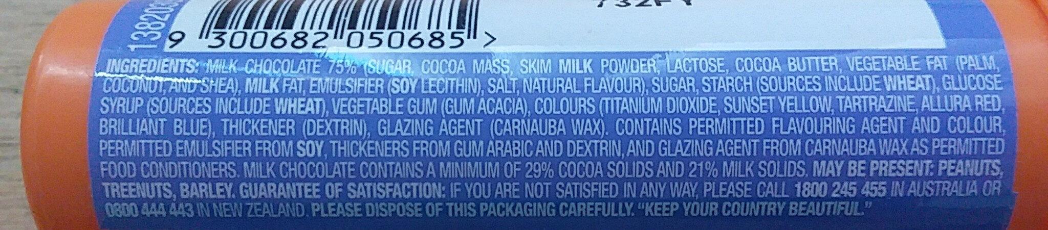 M&Ms - Ingredients - en