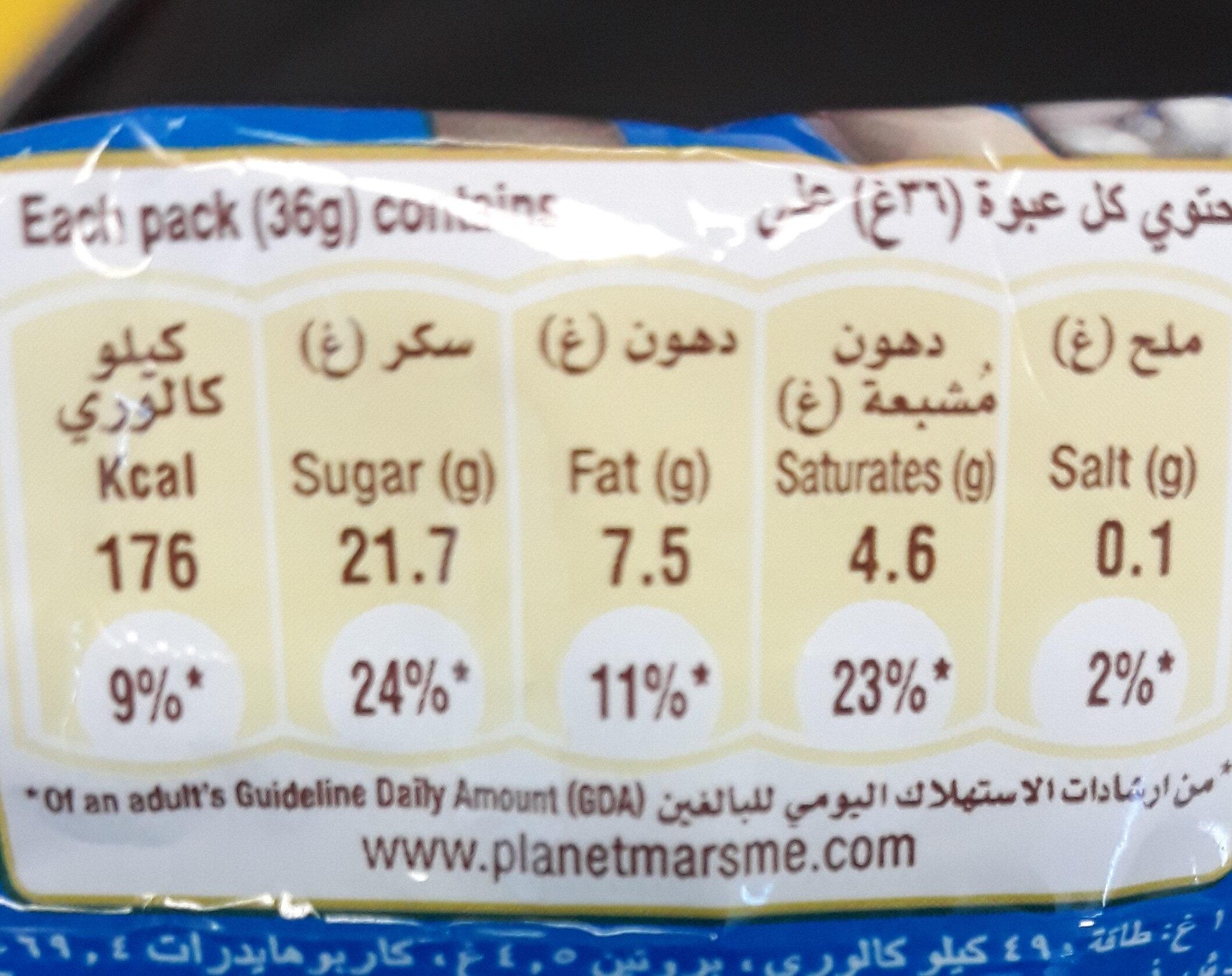 Crispy m&m's - Informations nutritionnelles