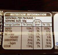 Snickers - Nutrition facts - en