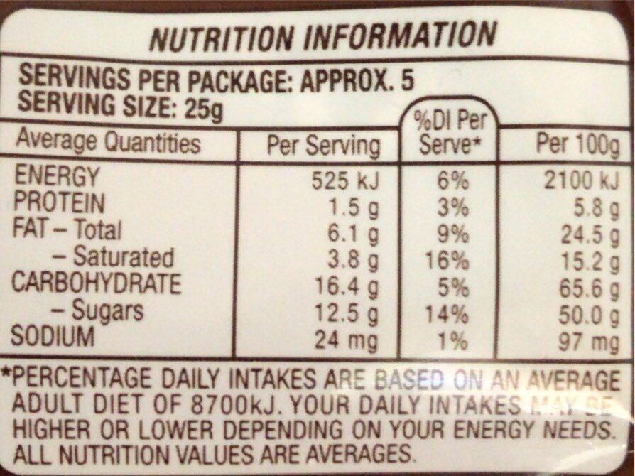 Maltesers Dark - Nutrition facts - en