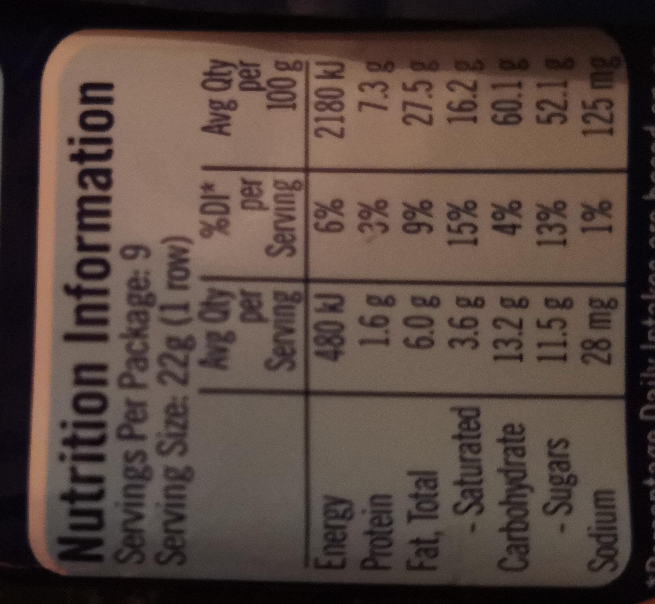 Crunch - Nutrition facts - en