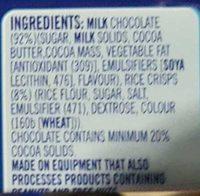 Nestle Crunch - Ingredients