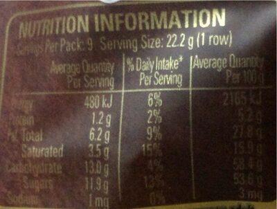 Plaistove dark 45%cacao - Nutrition facts - en