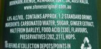 stoneys ginger beer - Ingredienti - en