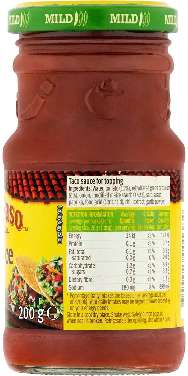 Mild Thick 'N' Chunky Tomato Salsa - Ingredients - en