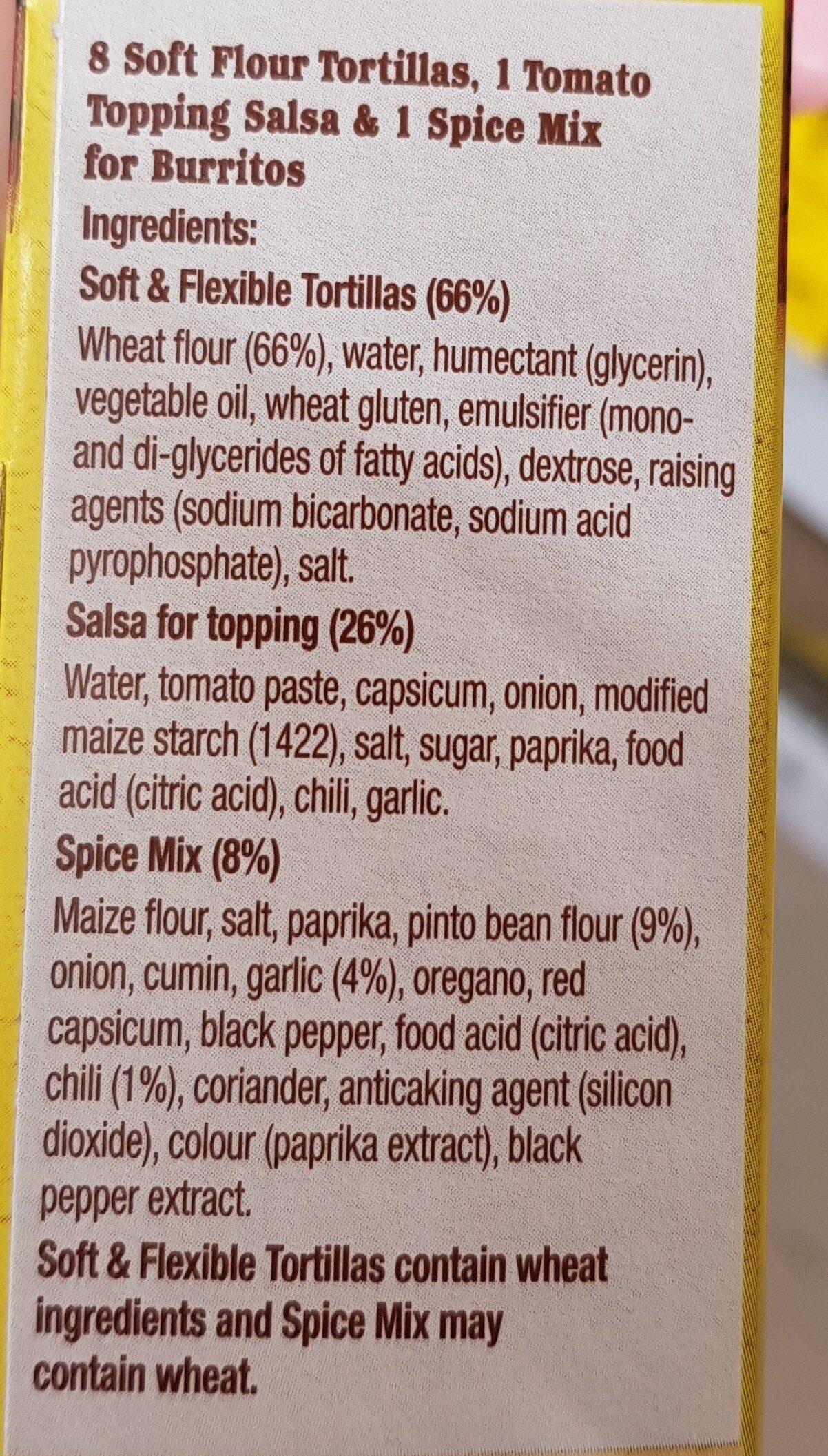 burrito kit - Ingredients - en