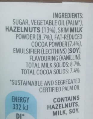 Nutella - Ingredients - en