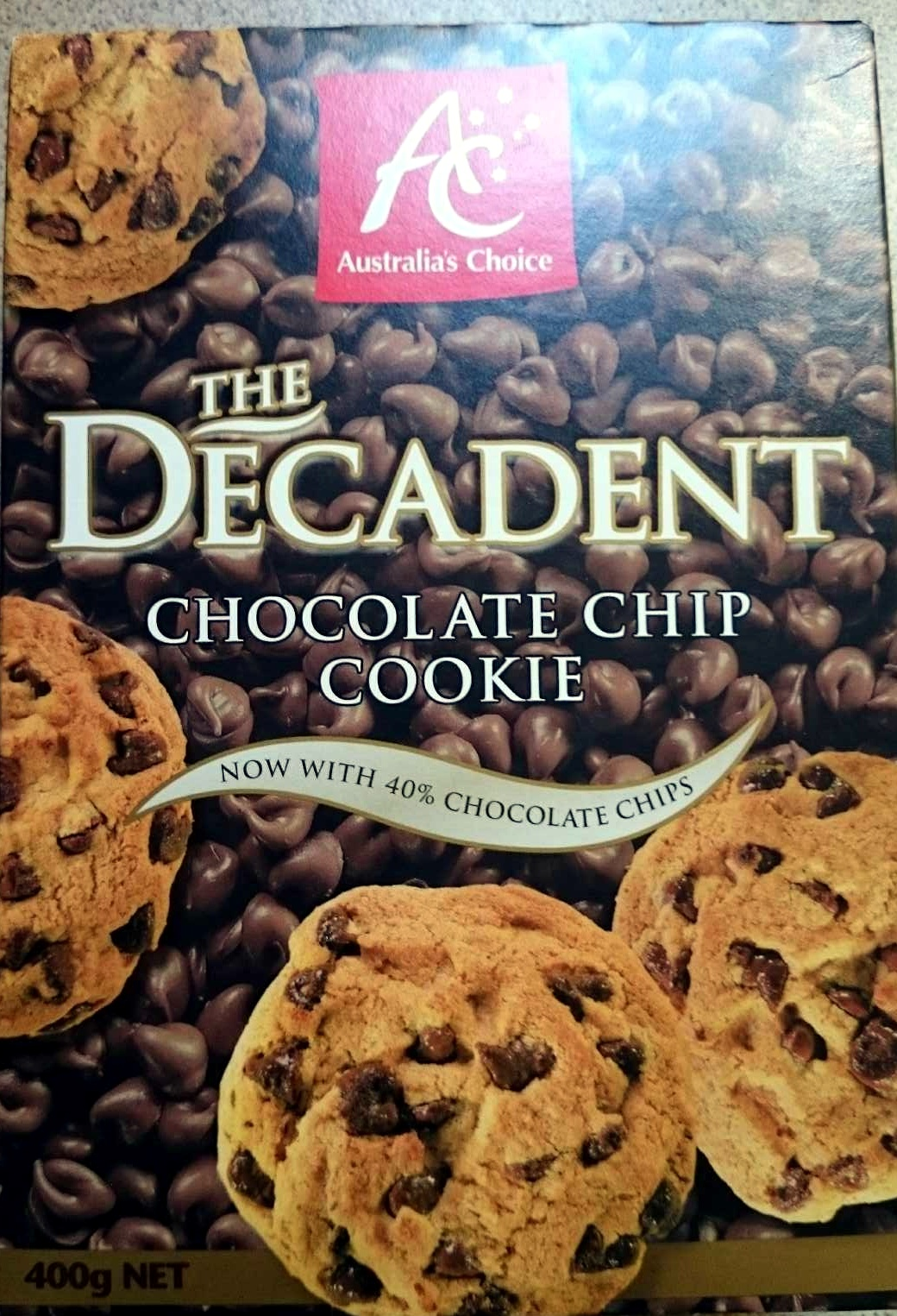 The Decadent chocolate Chip Cookie - Product