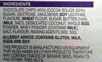 The Decadent chocolate Chip Cookie - Ingrediënten