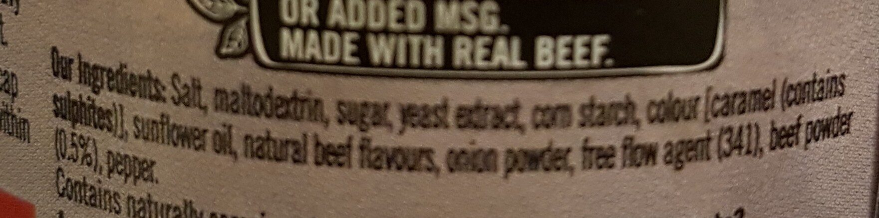 beef stock - Ingredients - en